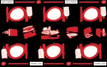 Papieren tafelkleed (6 personen)